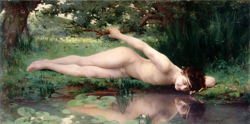 Jules Cyrille Cave - Narcissus (1890)