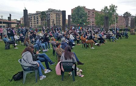 Il pubblico durante l'incontro