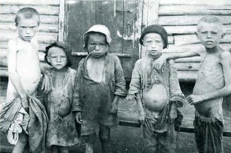 Bambini durante la carestia del 1932