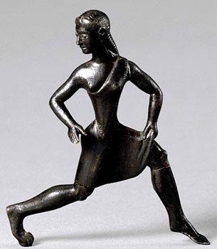 Donna spartana impegnata in una gara di corsa