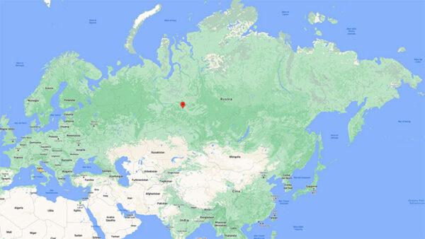 La posizione di Nazino nella Russia