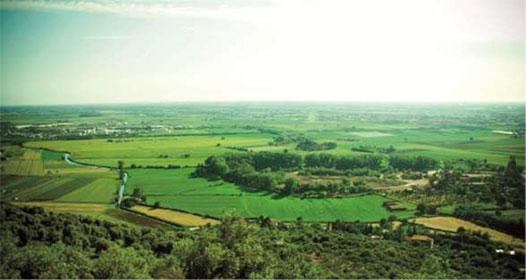 Area di Monticchio vista dalla collina