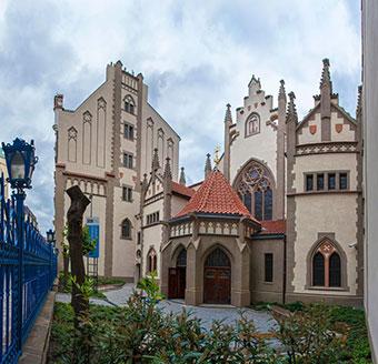 La Sinagoga Maisel dopo l'ultima ricostruzione