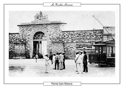 La porta San Marco a Livorno