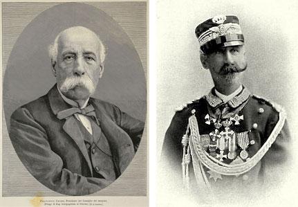 Francesco Crispi e Nicola Heusch