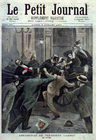 L'assassinio del Presidente francese Carnot