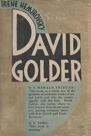 Copertina della prima edizione di David Golder, di Irène Némirovsky (Grasset, 1929)