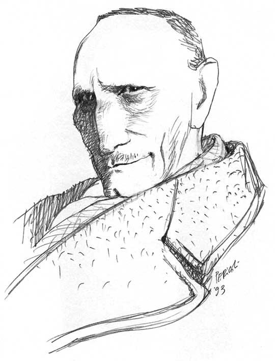 Tommaso Landolfi in un ritratto di Tullio Pericoli